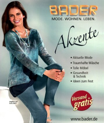 Каталог Bader Akzente осень-зима 2016. Заказ одежды на www.catalogi.ru или по тел. +74955404949