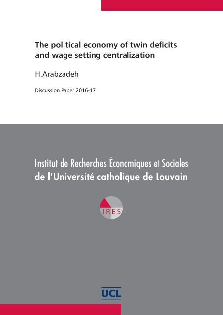 The political economy of twin deficits and wage setting centralization