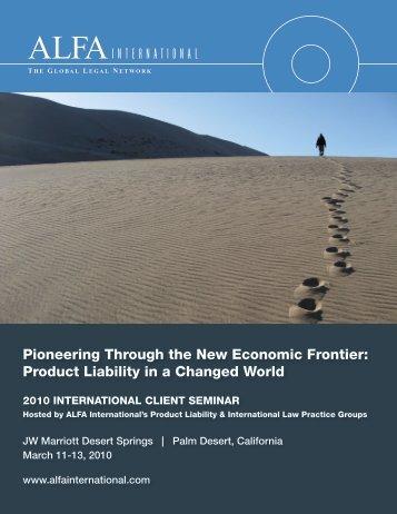 Pioneering Through the New Economic Frontier - ALFA International