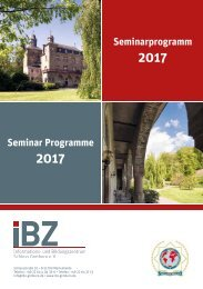 IBZ Seminarbroschüre DIN A5 2017
