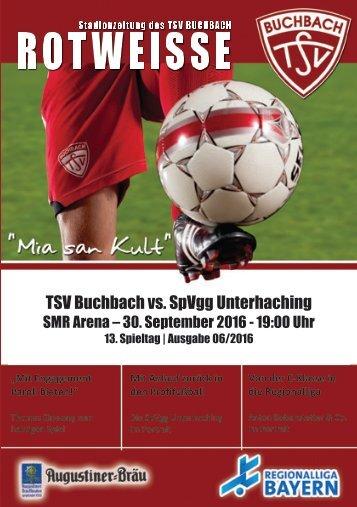 Stadionzeitung TSV Buchbach - SpVgg Unterhaching
