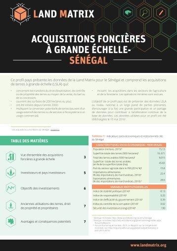 ACQUISITIONS FONCIÈRES À GRANDE ÉCHELLE- SÉNÉGAL
