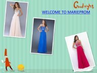 Beautiful and cheap tailor made prom dresses in MarieProm