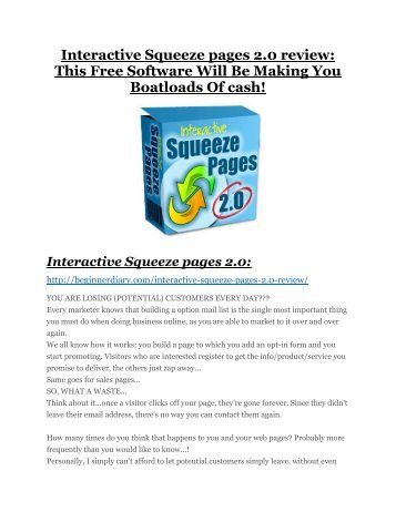 Interactive Squeeze pages 2.0 review - Interactive Squeeze pages 2.0 (MEGA) $23,800 bonuses