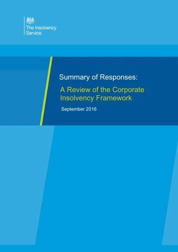 Insolvency Framework