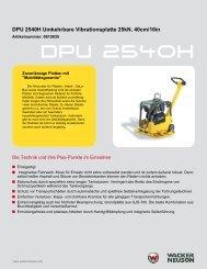 DPU 2540H Umkehrbare Vibrationsplatte 25kN, 40cm ... - Kleinheider
