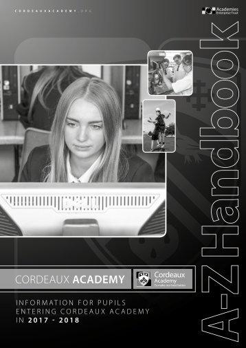 Cordeaux Student Info Booklet Sept 2016