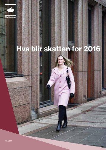 Hva blir skatten for 2016
