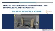 Europe 3D Rendering and Virtualization Software Market Report 2021