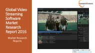 Global Video Streaming Software Market Research Report 2016