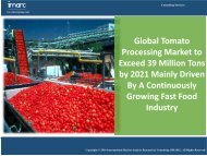 Global Tomato Processing Market - Industry Analysis, Trends & Opportunities