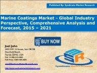 Marine Coatings Market: 2016 Industry Analysis, Segment & Forecast up to 2021