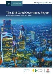 The 2016 Good Governance Report