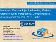 Metal and Ceramic Injection Molding Market