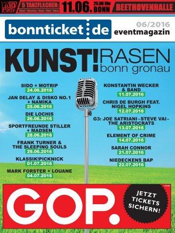 bonnticket.de – eventmagazin – 06/2016