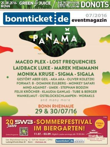 bonnticket.de – eventmagazin – 07/2016