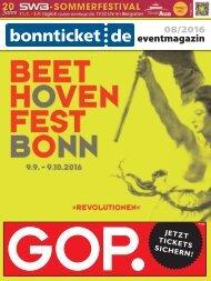 bonnticket.de – eventmagazin – 08/2016
