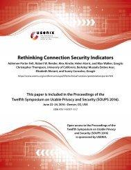 Rethinking Connection Security Indicators