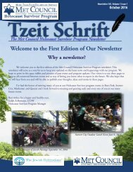 Tzeit Schrift - Met Council Holocaust Survivor Program Newsletter