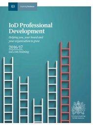 IoD Professional Development