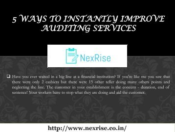 5 Ways to Instantly Improve Auditing Services