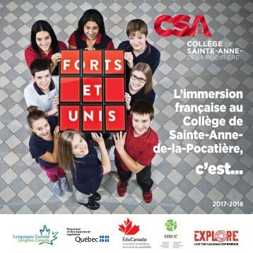 CSA Brochure française 2017-2018