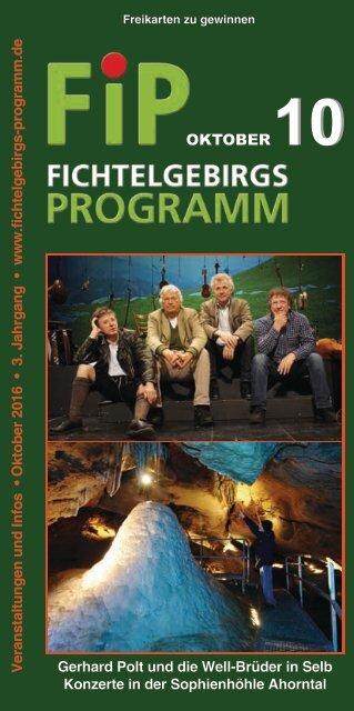 Fichtelgebirgs-Programm - Oktober 2016