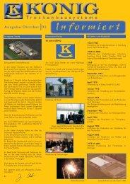 Kundenzeitung Oktober 2005 - KÖNIG GmbH & Co KG