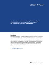 This piece was published before the May 2007 ... - Oliver Wyman