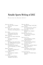 Notable Sports Writing of 2015