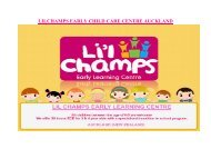 LILCHAMPS EARLY CHILD CARE CENTRE AUCKLAND