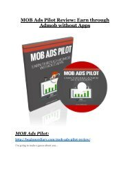 Mob Ads Pilot review- Mob Ads Pilot $27,300 bonus & discount