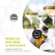Wijnen uit Alto Adige in Amsterdam