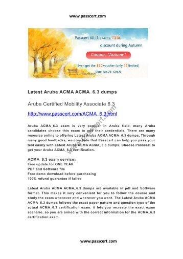 Aruba ACMA_6.3 questions and answers