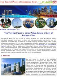 Top Traveler Places To Cover Within Couple of Days of Singapore Tour