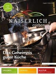 Kaiserlich Erleben, Ausgabe 3/2016