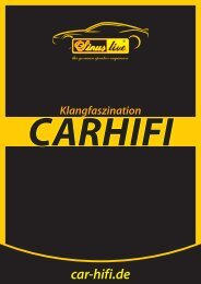 Carhifi-Katalog Sinuslive / Sinustec 2016