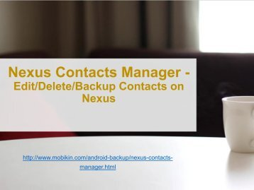 Nexus Contacts Manager - Edit,Delete,Backup Contacts on Nexus