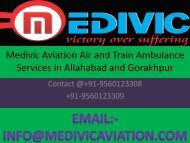 Emergency Air and Train Ambulance Services in Allahabd Provide By Medivic Aviation