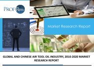 AIR TOOL OIL INDUSTRY, 2010-2020 MARKET RESEARCH REPORT