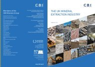THE UK MINERAL EXTRACTION INDUSTRY