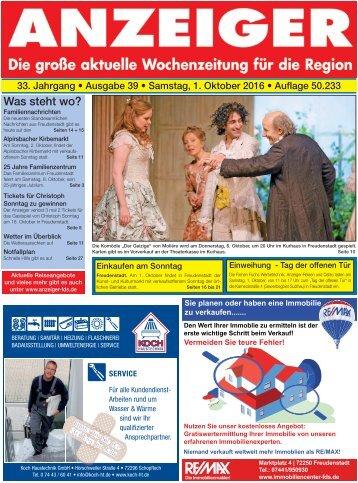 Anzeiger Ausgabe 39/16