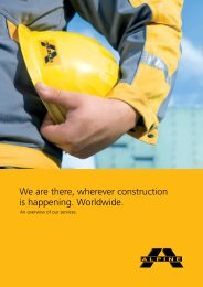 We are there, wherever construction is happening. Worldwide.