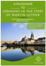 A PILGRIMAGE TO GERMANY IN THE STEPS OF MARTIN LUTHER