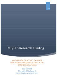 ME/CFS Research Funding