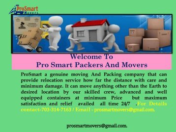 Commercial Moving Services in Maryland| ProSmart Movers