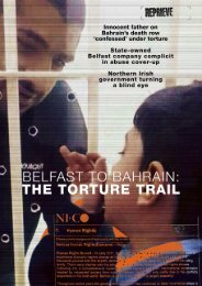 Belfast to Bahrain the torture trail