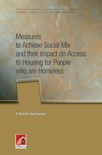 Measures to Achieve Social Mix and their Impact on ... - Feantsa