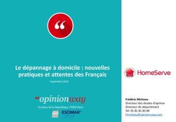 Le dépannage à domicile  nouvelles pratiques et attentes des Français