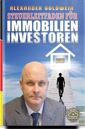 Steuerleitfaden für Immobilieninvestoren von Alexander Goldwein